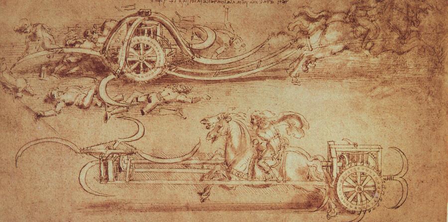 Scythed chariot by da Vinci